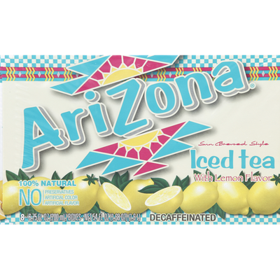 Arizona Iced Tea, Sun Brewed Style, with Lemon Flavor, Decaffeinated