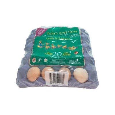 Rabbit River Jumbo Organic 20 Flat Eggs