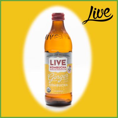 Live Raw & Organic Kombucha, Ginger Flavored