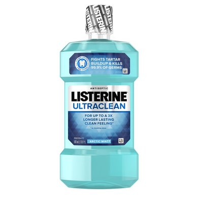Listerine Ultraclean Arctic Mint Antiseptic Mouthwash