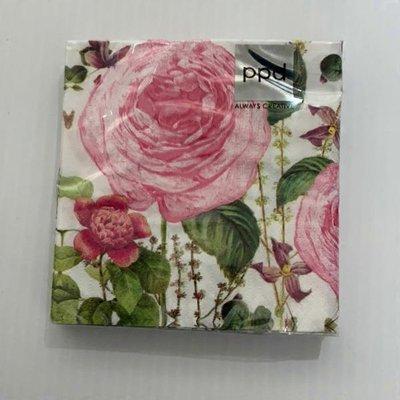 Paperproducts Design Princess Rose Cocktail Napkins