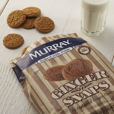 Murray Cookies, Old Fashioned Ginger Snaps, 16 oz Bag