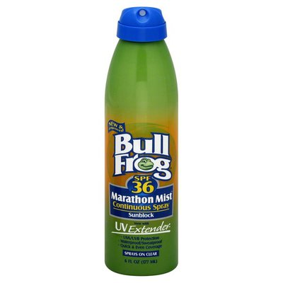 Bull Frog Sunblock, Continuous Spray, SPF 36