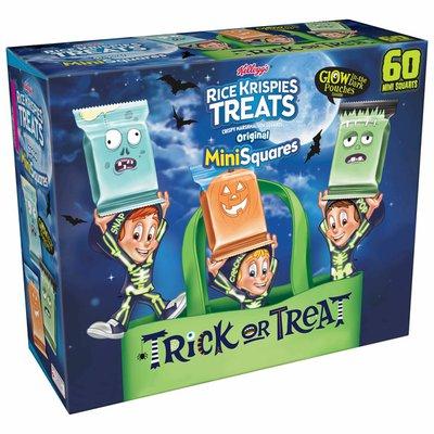 Kellogg's Rice Krispies Treats Mini-Squares Mini Marshmallow Snack Bars, Kids Snacks, Halloween Pack, Original
