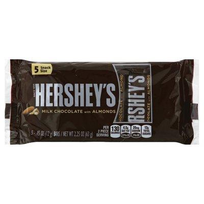 Hershey Milk Chocolate, with Almonds, Snack Size