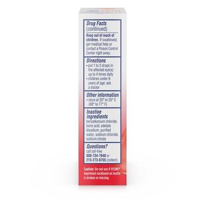 VISINE Maximum Strength Redness Relief Formula Eye Drops