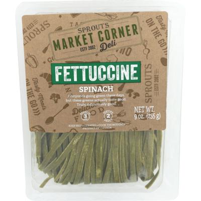 Sprouts Spinach Fettuccine Pasta