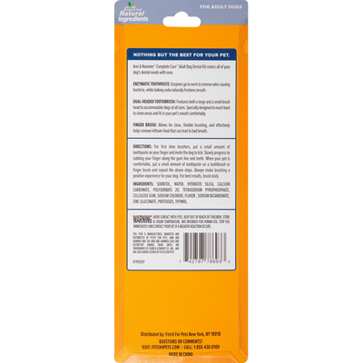 Arm & Hammer Multi-Care Dental Toothbrush Set For Dogs Beef