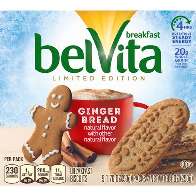 belVita Limited Edition Gingerbread Breakfast Biscuits