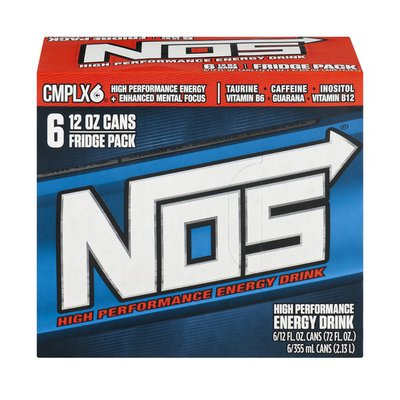 NOS High Performance Energy Drink - 6 PK
