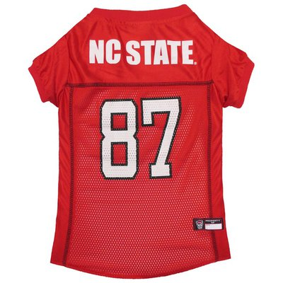 Pets First North Carolina State Wolfpack Football Mesh Dog Jersey