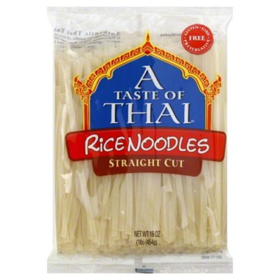 A Taste of Thai Rice Noodles, Linguine, Gluten-Free, Perfect for Pad Thai