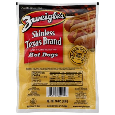 Zweigles Hot Dogs, Skinless