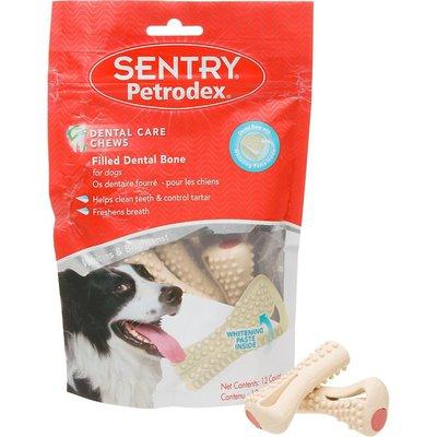 Sentry Petrodex Dental Care Chews Filled Dental Bones for Dogs Whitening Paste Inside