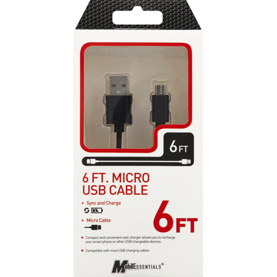 MobilEssentials Micro USB Cable 6 FT