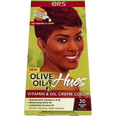 Ors Permanent Hair Color, Vitamin & Oil Creme Color, 30 Raging Red
