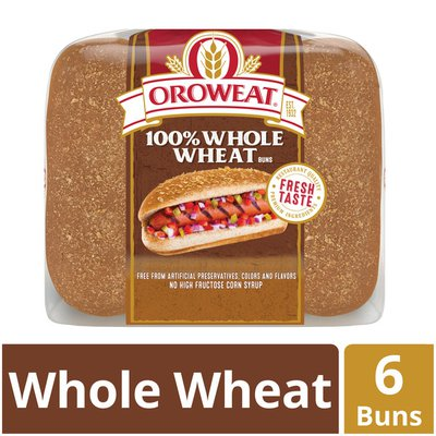 Brownberry/Arnold/Oroweat 100% Whole Wheat Hot Dog Buns