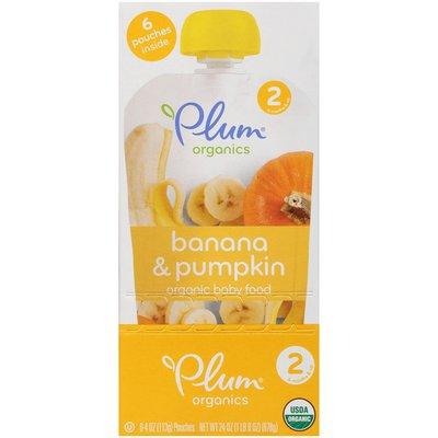 Plum Organics Banana & Pumpkin Organic Baby Food