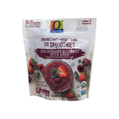 O Organics Strawberry & Cherry With Kale Strawberry, Dark Sweet Cherry, Kale
