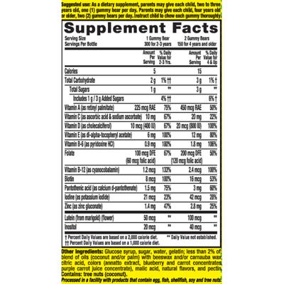 L'Il Critters Gummy Vites Complete Multivitamin Dietary Supplement Gummies