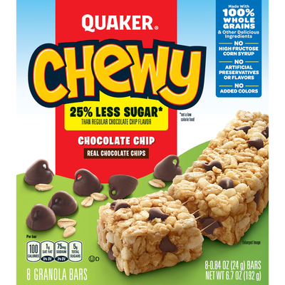 Quaker Granola Cereal Or Fruit Bars