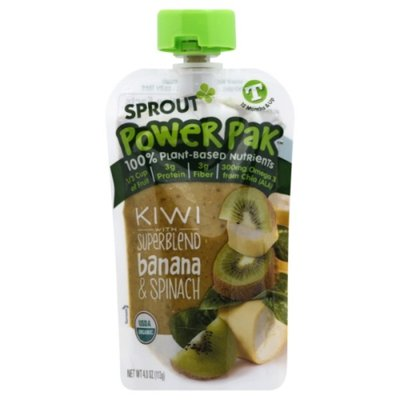 Sprout Power Pak Kiwi with Superblend Banana & Spinach