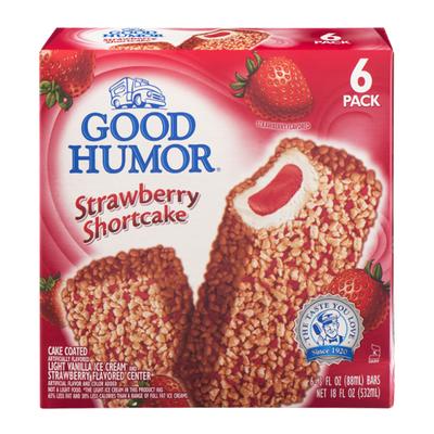 Good Humor Frozen Dairy Dessert Bars Strawberry Shortcake