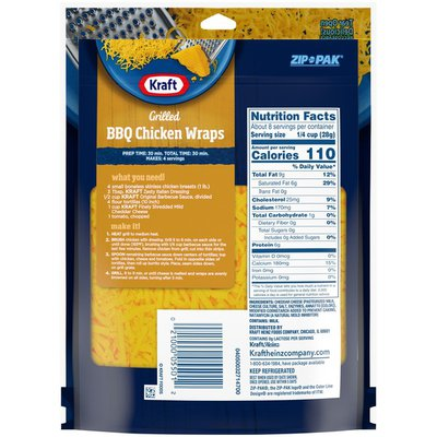 Kraft Natural Cheese Finely Shredded Mild Cheddar Cheese