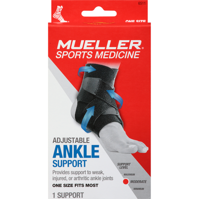 Mueller Ankle Support, Adjustable, Moderate