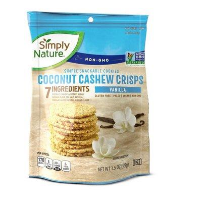 Simply Nature Vanilla Coconut Cashew Crisps