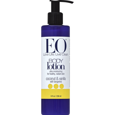 EO Products Lotion, Body, Coconut & Vanilla with Tangerine