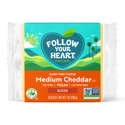 Follow Your Heart Medium Cheddar Slices
