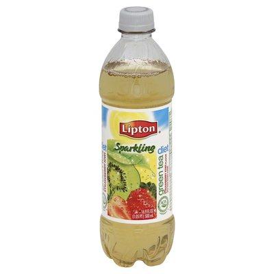 Lipton Green Tea, Sparkling, Strawberry Kiwi Flavor, Diet