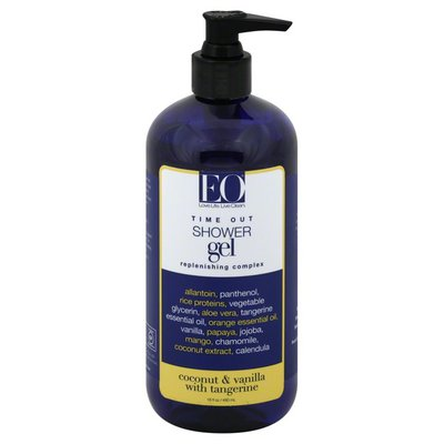 EO Products Shower Gel, Time Out, Replenishing Complex, Coconut & Vanilla with Tangerine