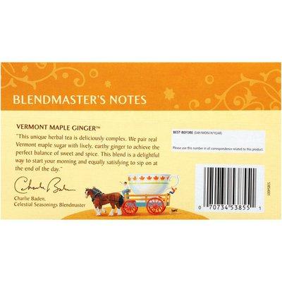 Celestial Seasonings Vermont Maple Ginger Caffeine Free Herbal Tea Bags