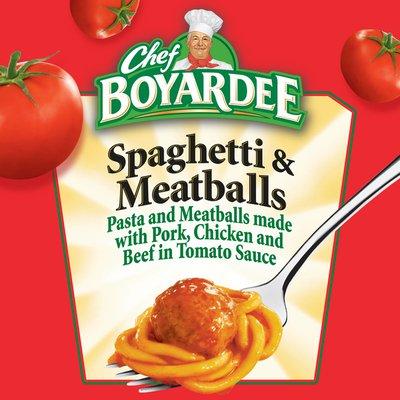 Chef Boyardee Spaghetti And Meatballs In Tomato Sauce