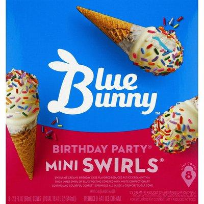 Yellow blue red ice cream cone confetti