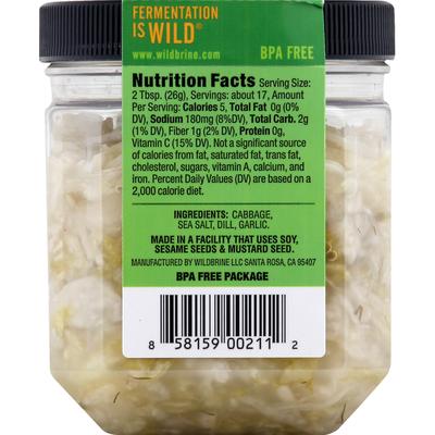 Wildbrine Sauerkraut Salad, Dill & Garlic, Probiotic