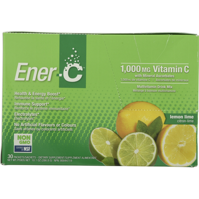 Ener-C Multivitamin Drink Mix, 1000 mg, Lemon Lime