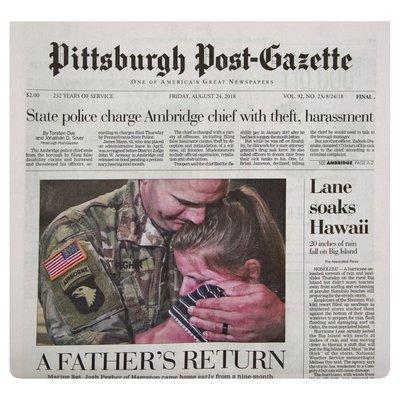 Pittsburgh Post Gazette Newspaper