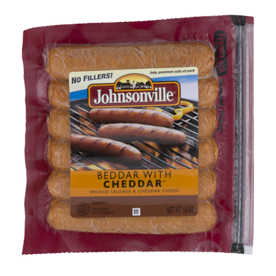 Johnsonville Holiday Promo Beddar with Cheddar Smoked Sausage
