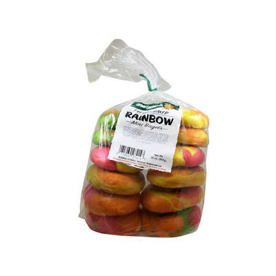 Mini Rainbow Bagels
