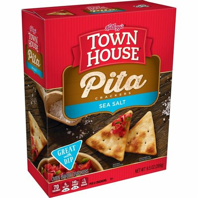 Kellogg's Town House Pita Crackers, Baked Snack Crackers, Lunch Snacks