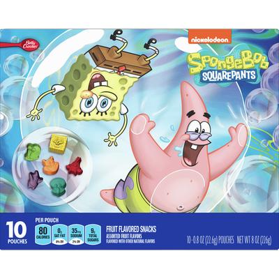 Betty Crocker SpongeBob SquarePants Fruit Snacks, 10 Count