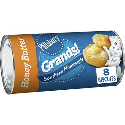 Pillsbury Grands! Southern Homestyle Buttermilk Biscuits, Honey Butter, 8 Count