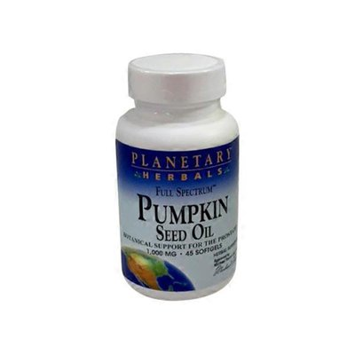 Planetary Herbals 1,000 Mg Full Spectrum Pumpkin Seed Oil Botanical Support For Prostate