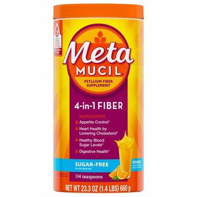 Metamucil Multi-Health Psyllium Fiber Supplement, Sugar-Free Powder