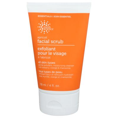 Earth Science Facial Scrub, Apricot, Exfoliant