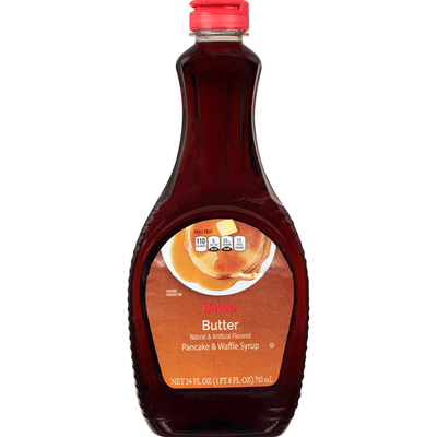 Hy-Vee Pancake & Waffle Syrup, Butter
