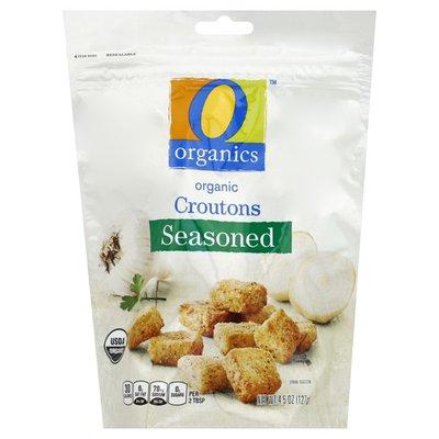 O Organics Croutons, Organic, Seasoned